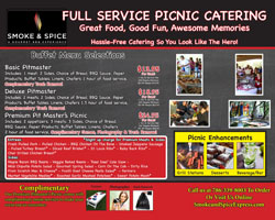 Full Svc BBQ picnic menu