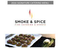 Signature, Wedding and Special Events Menu