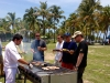 Grilling Burgers on the Beach for DHL Express