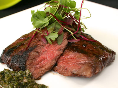 Grilled Skirt Steak wth fresh Chimichurri